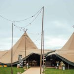 the tipis in the build up to the big day